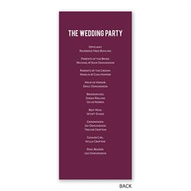 Photo Simplicity - Wedding Program