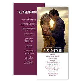 Wedding Programs: Photo Simplicity Wedding Program