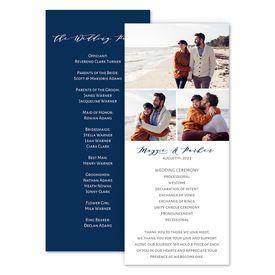 Wedding Programs: Photo Collage Wedding Program
