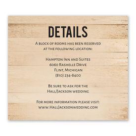 Wedding Reception Cards: Modern Woodgrain Information Card