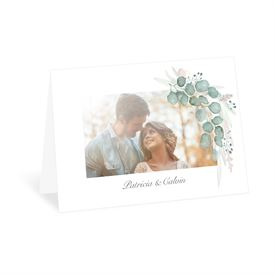 Wedding Thank You Cards: Natural Greens Thank You Card