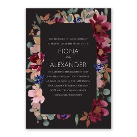 Striking Floral Invitation with Free Response Postcard