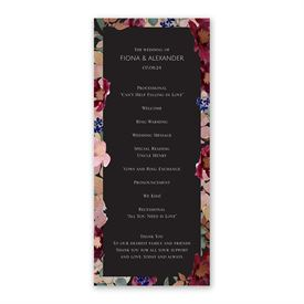 Striking Floral Wedding Program
