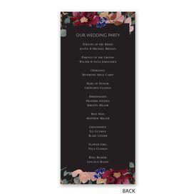 Striking Floral - Wedding Program