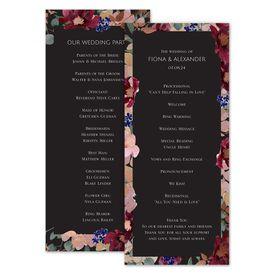 Wedding Programs: Striking Floral Wedding Program