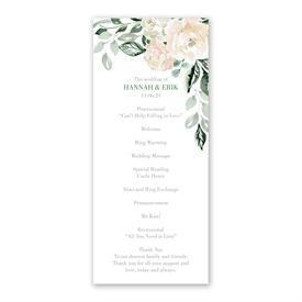 Garden Rose Wedding Program