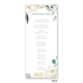 Garden Rose - Wedding Program