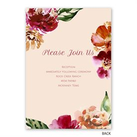 Autumn Blooms - Invitation with Free Response Postcard