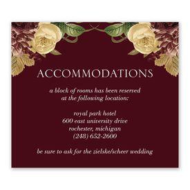 Wedding Reception Cards: Budding Floral - Information Card