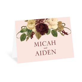 Budding Floral - Powder - Thank You Card