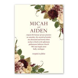 Budding Floral - Spirited - Invitation with Free Response Postcard