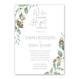 Forever Love Invitation with Free Response Postcard