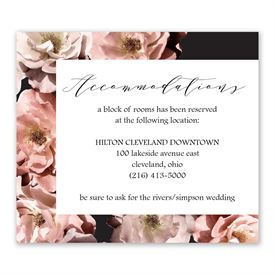 Wedding Reception Cards: Ethereal Information Card