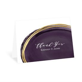 Gilded Watercolor - Raisin - Thank You Card