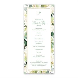 Gold Greenery Wedding Program