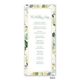 Gold Greenery - Wedding Program