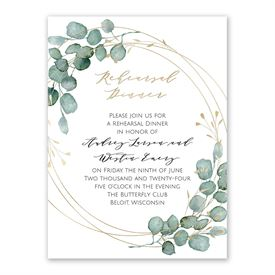 Eternity Rehearsal Dinner Invitation