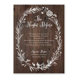 Ever After Rehearsal Dinner Invitation