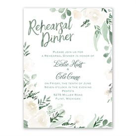 Painted Garden Rehearsal Dinner Invitation
