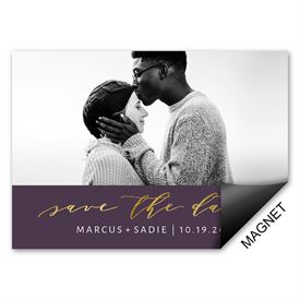 Simple Glam Save the Date Magnet