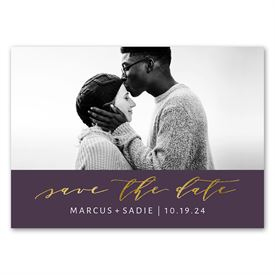 Simple Glam - Save the Date Magnet