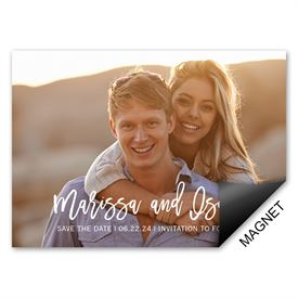 Bold Love Save the Date Magnet