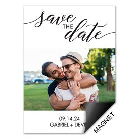 In Script Save the Date Magnet