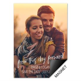 This Day Forward Save the Date Magnet