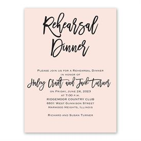 Simple Statement Rehearsal Dinner Invitation