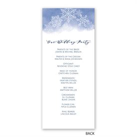 Watercolor Snowflake - Wedding Program