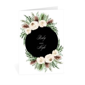 Wedding Thank You Cards: Floral and Pine Thank You Card