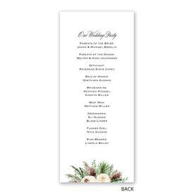 Floral and Pine - Wedding Program