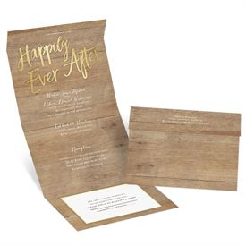 Sparkling Rustic Seal and Send Invitation