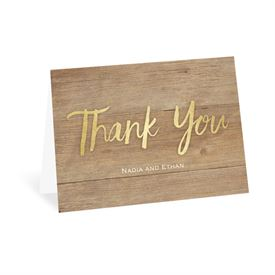 Wedding Thank You Cards: Sparkling Rustic Thank You Card