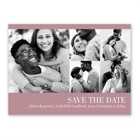Modern Save The Dates: Photo Collage Save the Date