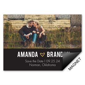 Gold Sparkle Save the Date Magnet