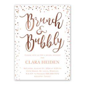 Glitzy Brunch Bridal Shower Invitation