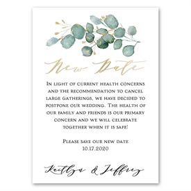 Watercolor Greens - Change the Date Magnet