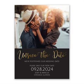Unsave the Date Change the Date