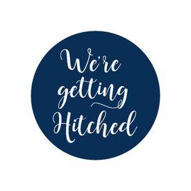 "Wedding Envelope Seals: We""re Getting Hitched Envelope Seal"