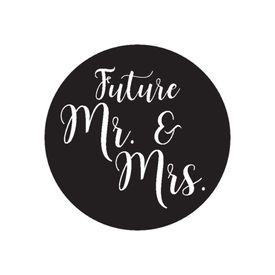 Wedding Envelope Seals: Future Mr. and Mrs. Envelope Seal