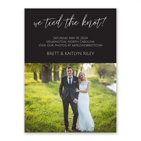 Tied the Knot Wedding Announcement