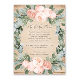 Wedding Announcements: 