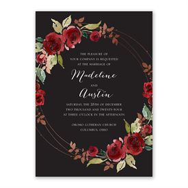 Lavish Rose Invitation with Free Response Postcard