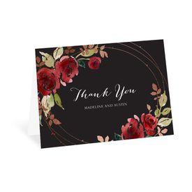 Wedding Thank You Cards: Lavish Rose Thank You Card