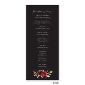 Lavish Rose - Wedding Program