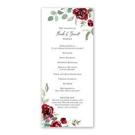 Lovely Rose Wedding Program