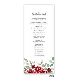 Lovely Rose - Wedding Program