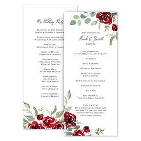 Wedding Programs: Lovely Rose Wedding Program