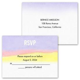 Painted Rainbow - Invitation with Free Response Postcard